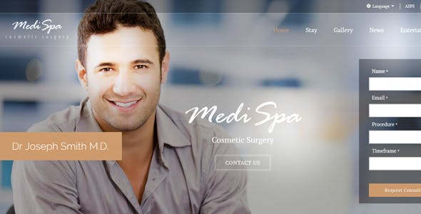 cosmetic surgery website templates from themeforest