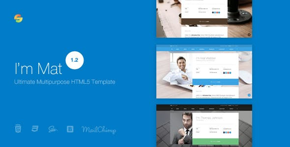 Gallery HTML Business Card Website Templates From ThemeForest - Business card website template