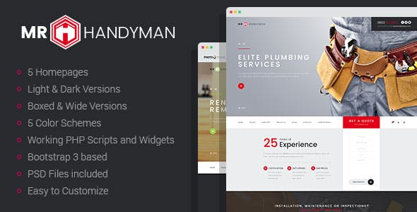 roofer website templates from themeforest