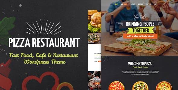 pizza restaurant website templates from themeforest