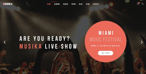 Party Joomla Entertainment Templates from ThemeForest