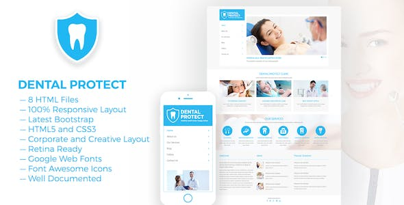 dental protect responsive dental and health html5 template