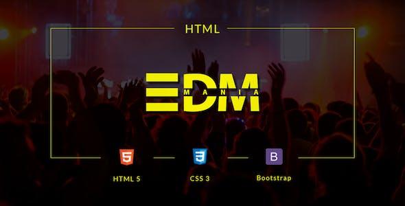 Media player html website templates from themeforest edmania edm music template toneelgroepblik Gallery