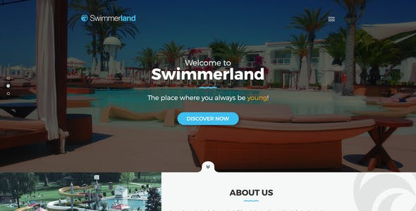 Swimmerland Water Park Psd Template