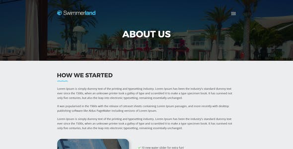 Water park templates from themeforest swimmerland water park psd template maxwellsz