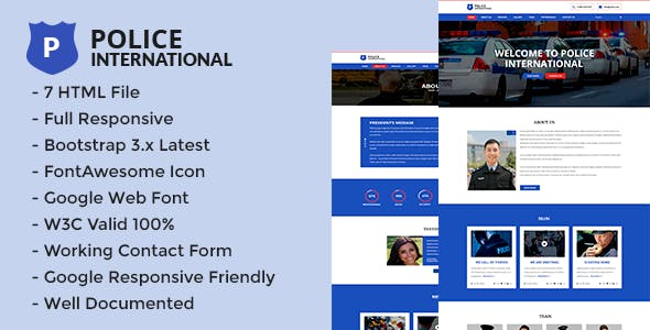 Fire Department Website Templates Compatible With Bootstrap