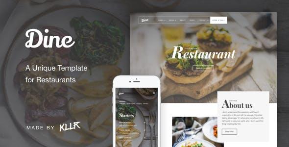 dine a unique restaurant template