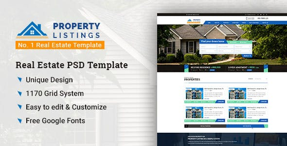 Real Estate Listing Templates From ThemeForest - Real estate ad templates