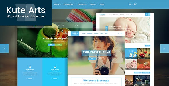 Kute Arts Blog WordPress Theme
