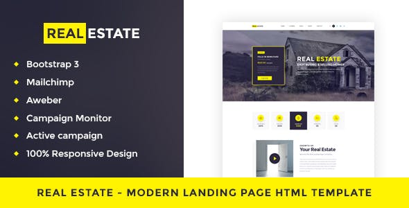 Property Landing Page Website Templates from ThemeForest