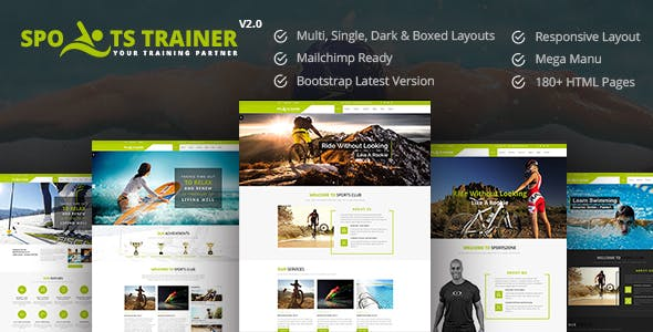 personal trainer website templates from themeforest