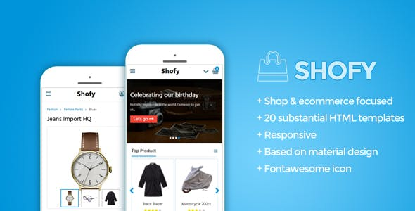 Mobile Shop Website Templates from ThemeForest