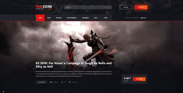 games zone website templates from themeforest