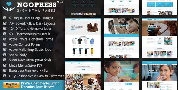 Ngo Website Templates from ThemeForest