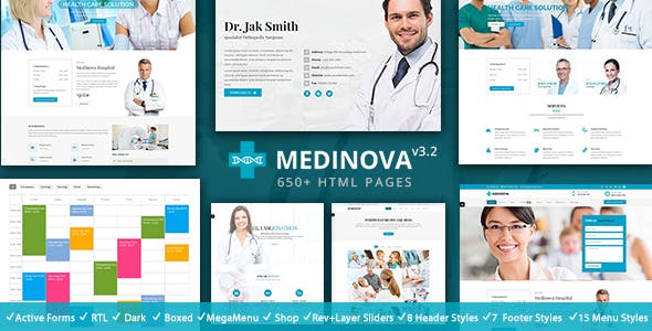 Medical Website Templates From ThemeForest - Medical website templates