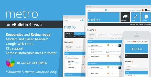 Metro - A Theme for vBulletin 4 and 5 nulled theme download