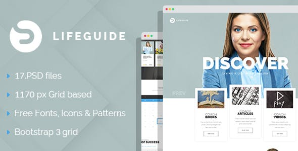 Life Coach Personal PSD Templates from ThemeForest