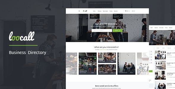 Business directory website templates from themeforest loocall modern business directory accmission