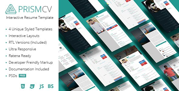 prism cv templates from themeforest