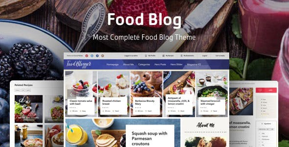 recipes blog templates from themeforest