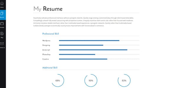 Resume Website Templates compatible with Angularjs