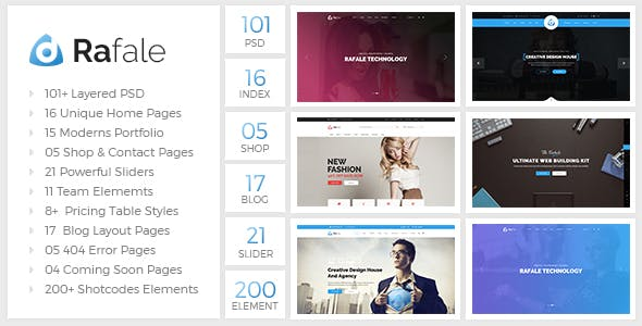 Side Menu Bar Website Templates from ThemeForest
