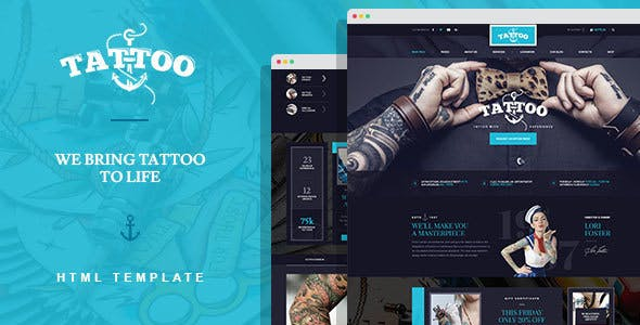 Html artist website templates compatible with bootstrap ink arts tattoo salon html template maxwellsz