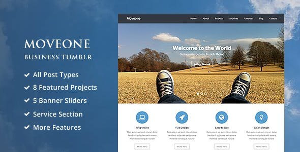 business tumblr templates from themeforest