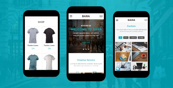 Bara Creative Mobile Template