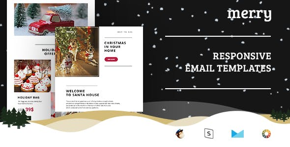 Merry Christmas Email Set Stampready Mailchimp