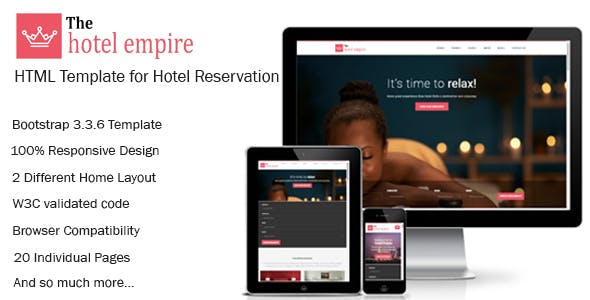 Hotel Reservation System Templates from ThemeForest