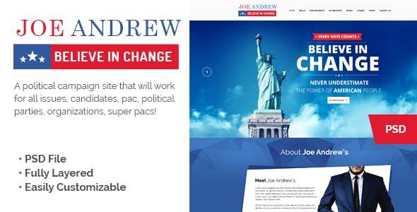 b28e040dc2 America Political PSD Template from ThemeForest