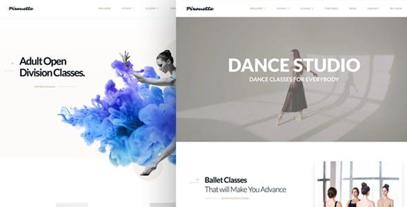 Sports Hip Hop Website Template from ThemeForest