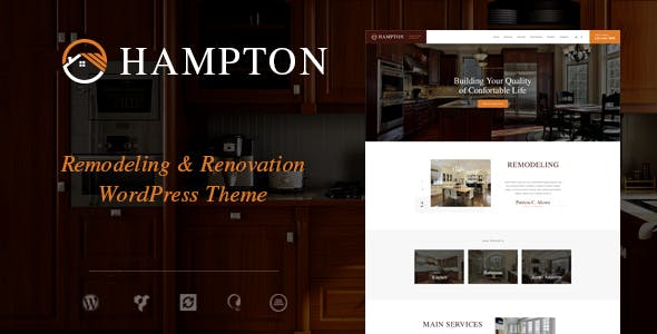 Home Remodeling Website Templates From ThemeForest - Home remodeling website templates