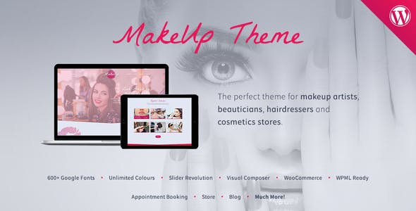 Makeup Website Templates From ThemeForest