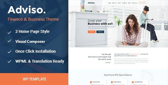 Adviso - Finance, Consulting, Business WordPress Theme