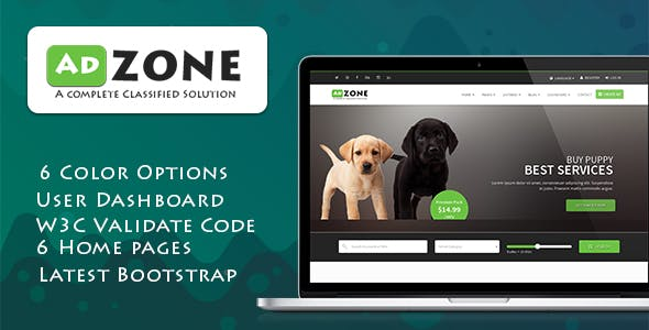 Classified Rtl Website Templates from ThemeForest