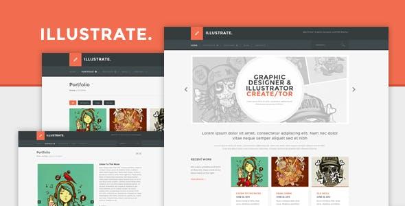 Illustrator Portfolio Website Templates From ThemeForest