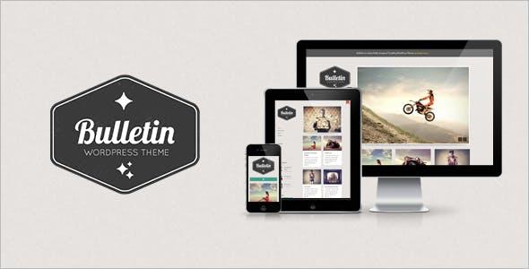 Tumblr Modern WordPress Themes from ThemeForest