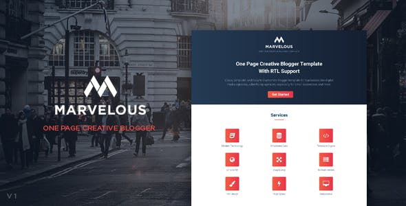 Corporate blogger templates from themeforest marvelous one page creative blogger template with rtl support flashek Gallery