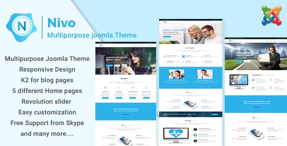 Corporate joomla templates from themeforest page 5 nivo responsive multi purpose business joomla theme cheaphphosting Images