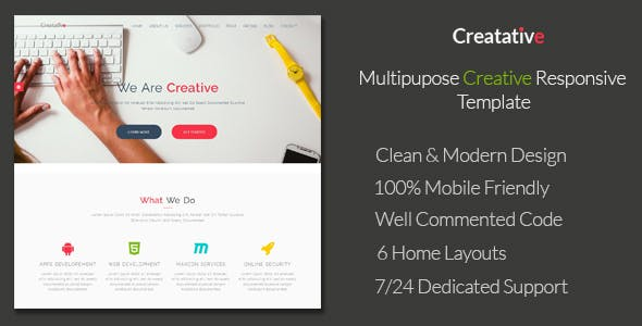 Web Studio HTML Website Templates From ThemeForest - Graphic design website templates