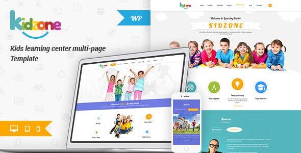Kidzone - Children Kindergarten Wordpress Theme