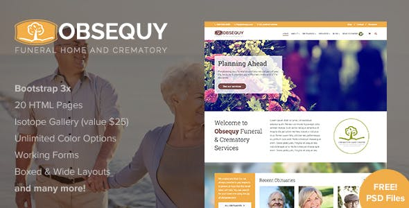 Funeral Templates from ThemeForest