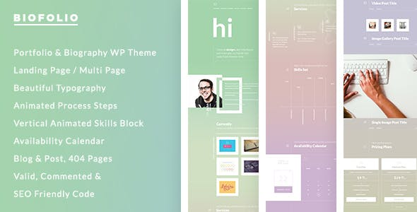 Biography WordPress Themes from ThemeForest