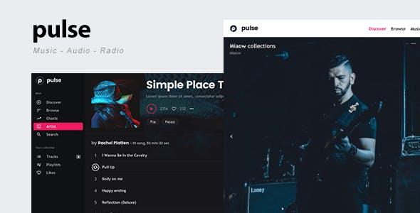Music Streaming WordPress Website Templates from ThemeForest