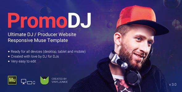 promodj dj producer musician website responsive muse template