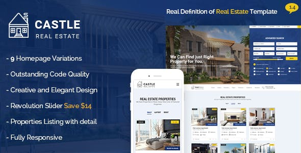 Real estate html website templates from themeforest castle real estate template pronofoot35fo Image collections