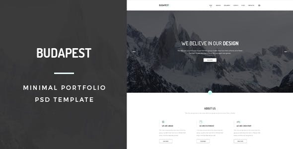 Graphic designer portfolio website templates from themeforest budapest minimal portfolio psd template maxwellsz
