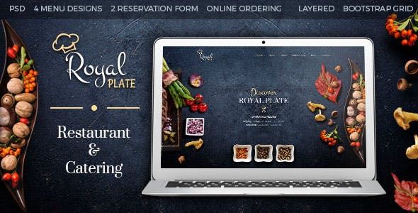 Catering Company Website Templates from ThemeForest